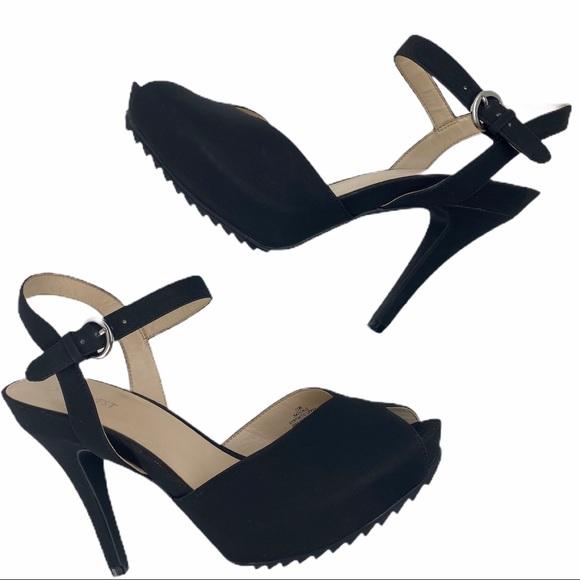 Black Platform Strappy Heels Size